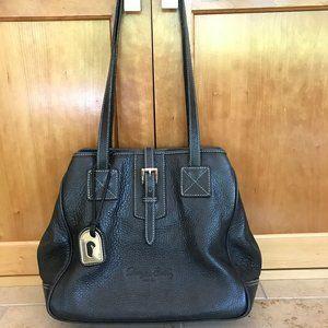 Dooney & Bourke Black Leather Medium Tote